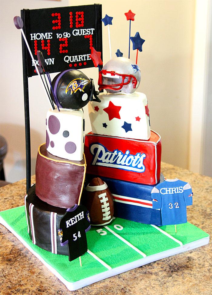 Ravens vs Patriots - Sweet Cheeks Custom Cakes