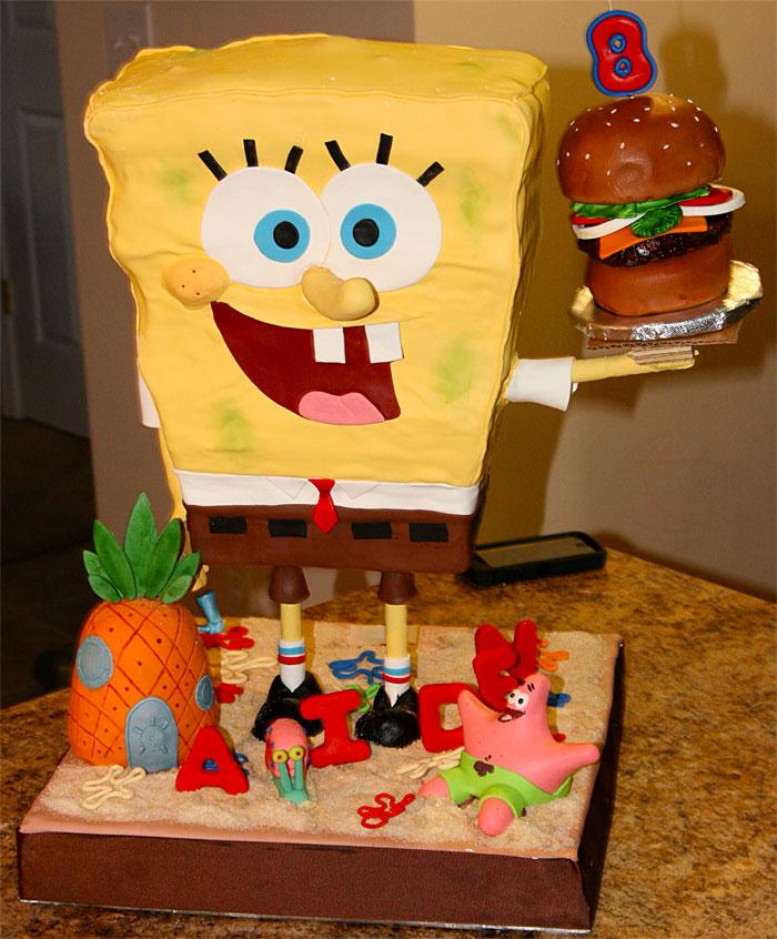 Sponge Bob Square Pansts - Sweet Cheeks Custom Cake