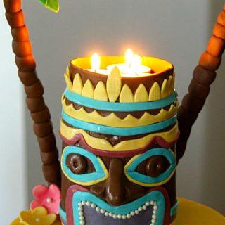 Luau cake by Sweet Cheeks Custom Cakes