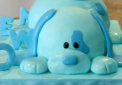 Blue Puppy - Sweet Cheeks Custom Cake